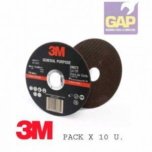 Disco De Corte 115 M X 1,6 Mm 3m Pack X 10 U.